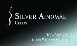 Silver Ainomäe business card front
