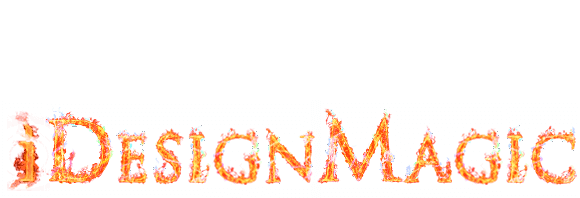 iDesignMagic logo in flaming letters