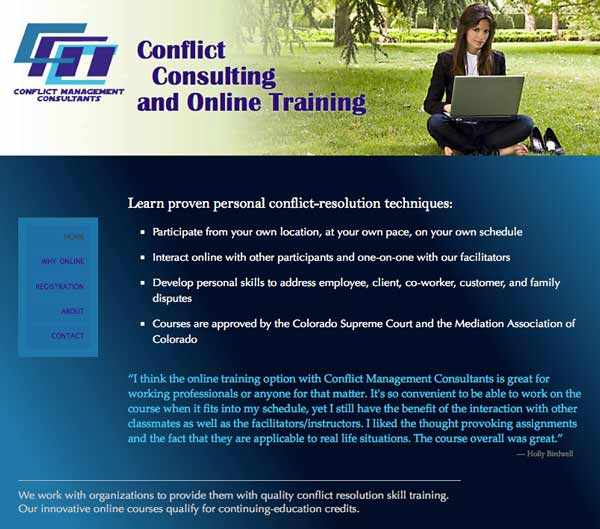Home page for Conflcit Management Consultants