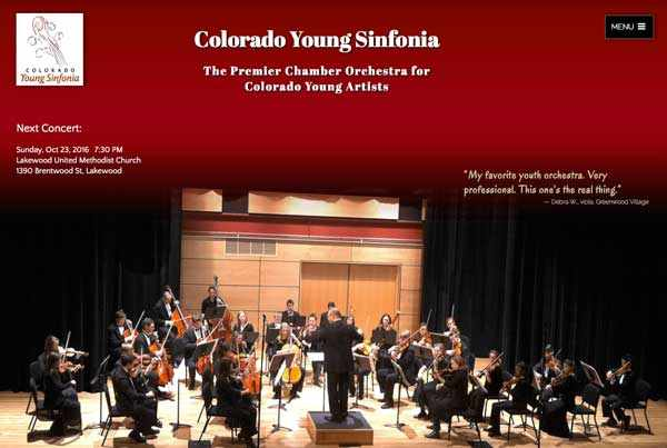 Colorado Young Sinfonia homepage