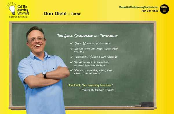 Denver tutor Don Diehl's homepage.