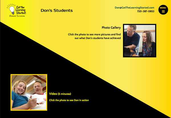 Tutor Don Diehl's Students page