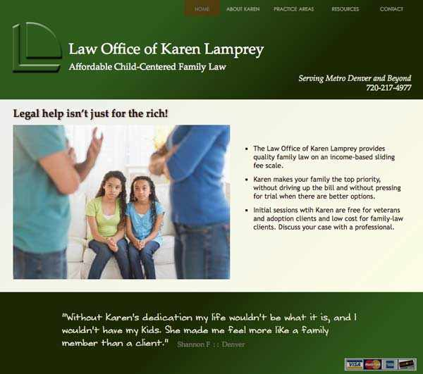 Denver family-law attorney Karen Lamprey's homepage