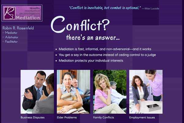 Denver mediator, arbitrator, and facilitator Robin Rossenfeld's homepage