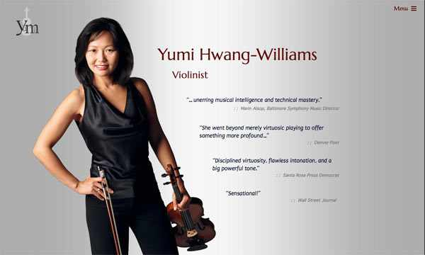 Colorado Symphony Concertmaster Yumi Hwang-Williams' homepage